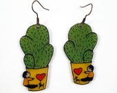 "Earrings ""Cactus&quo..."