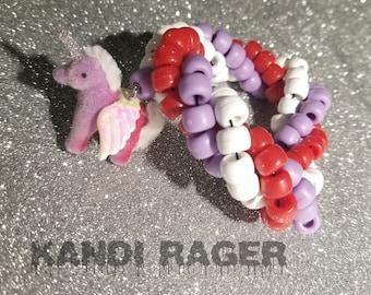 Unicorn Triple Twisted Kandi Bracelet