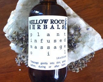 plant infused relaxing massage oil