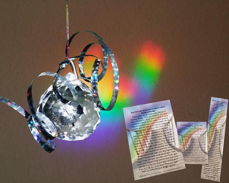 Reflections of Rainbow Bridge Prism Pet Memorial Sun Catcher image 0