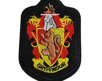 520a8408361 Harry Potter Hogwarts Gryffindor house badge crest Iron on Patch Sew on  transfer Embroidered Patch fantastic beasts