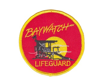 d4c9bb29ef2d Baywatch Movie TV show Lifeguard Iron On Patch Embroidered Sew on Transfer