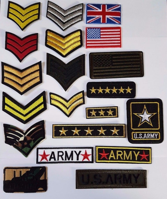 Military Zap Badges Embroidered