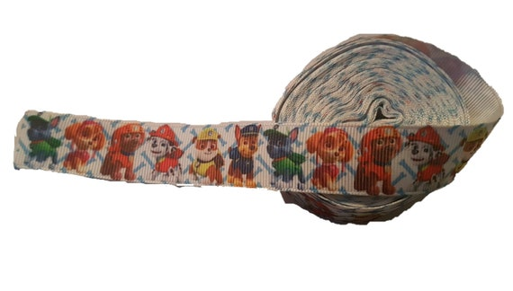 Paw Patrol 22mm Grosgrain Character Ribbon for card Making or Bows