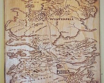 photo regarding Game of Thrones Printable Map named Sport of thrones map Etsy