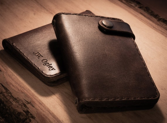 Leather Biker Wallet,  Wallet, Men's Leather Wallet, Women's Leather Wallet