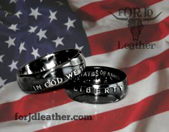 Silver Coin Ring, Silver Half Dollar Ring, Silver Ring, Rings