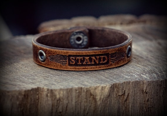 Ryan Weaver/Nine Line STAND Leather Wristband
