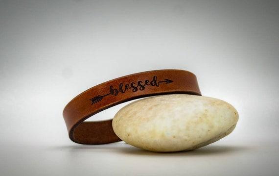 Leather Bracelet, Custom Cuff Bracelet engraved, Gift for him, Gift for her