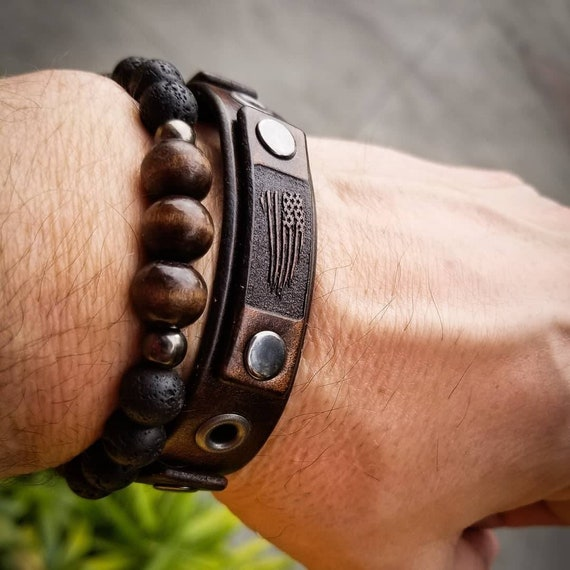 Vintage leather bracelet,Leather cuff bracelet, Men's Leather Bracelet, Women's Leather Bracelet