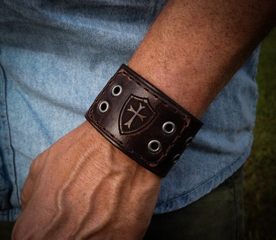 Leather Biker Cuff, Men's Leather Cuff, Women's Leather Cuff, Leather Bracelet