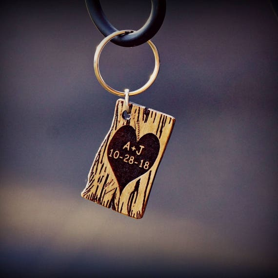 Wooden Key Chain, Unique Key Chain, Valentine's Key Chain,  Men's  Key Chain,  Women's Key  Chain