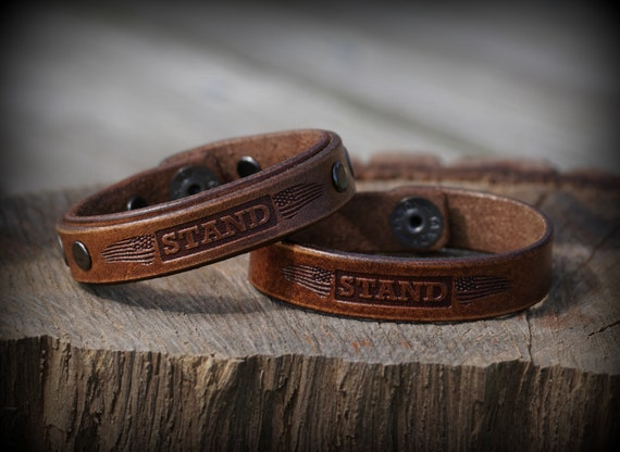 Patriotic Leather bracelet, Men's Leather Bracelet, Women's Bracelet, Leather cuff