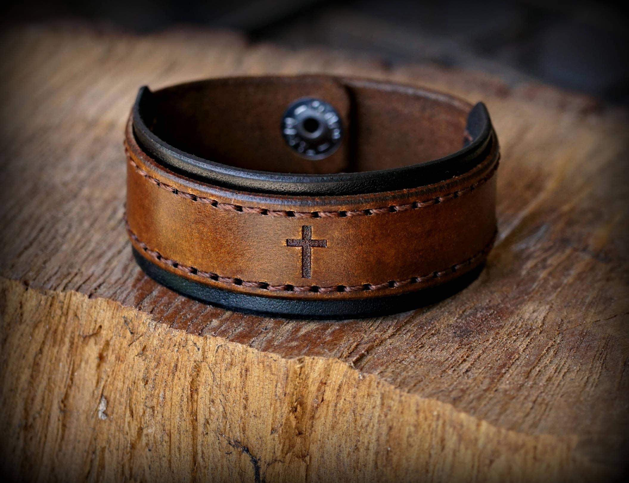 456a10fd72e329 Personalized Leather Bracelet, Women's Leather Bracelet, Men's ...
