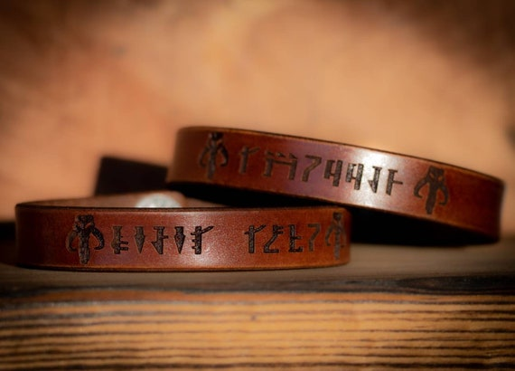 Mandalorian Leather Bracelet
