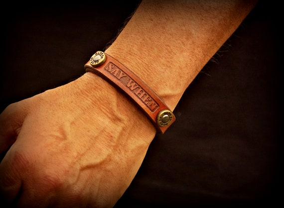 Leather bracelet, Leather Wrist Band, Women's Leather Bracelet, Men's Leather Bracelet