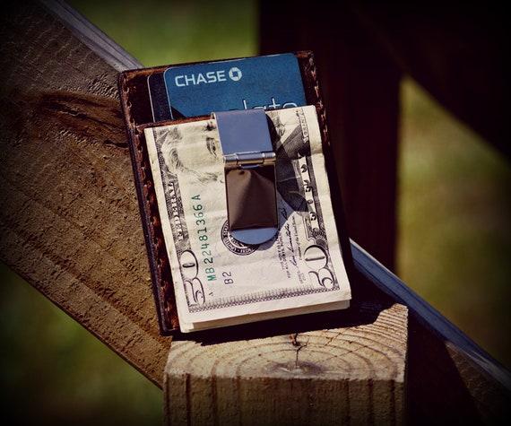 Leather Money Clip Wallet, Money Clip, Leather Wallet