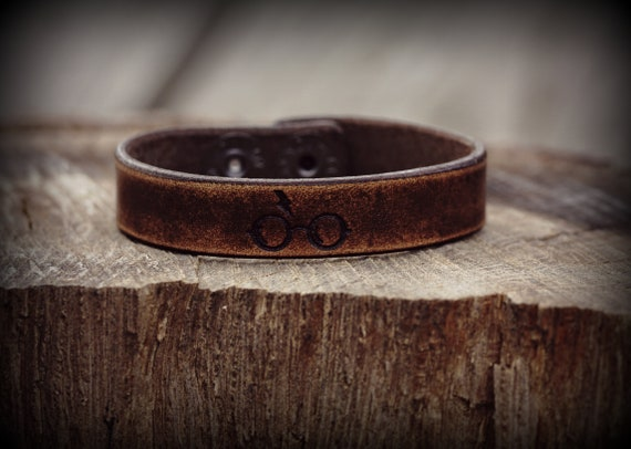 Harry Potter Inspired Bracelet, Harry Potter Leather Bracelet