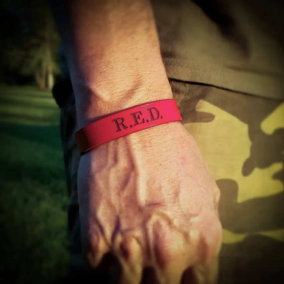 Ryan Weaver's Nine Line Apparel R.E.D. Leather Bracelet