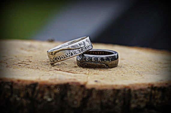 Silver Coin Ring, Men's Ring, Women's Ring