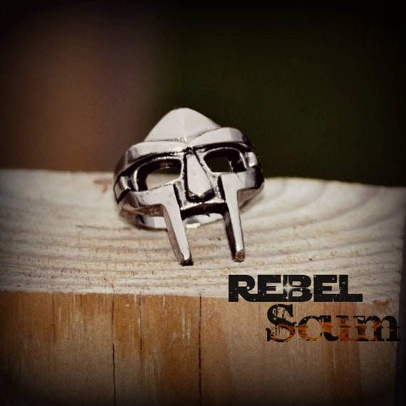 Steel Spartan mask ring,  Biker ring,  Punk ring,  Steam punk