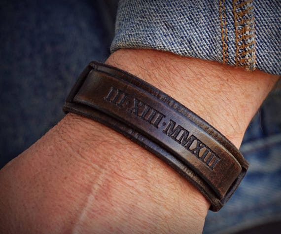 Leather Cuff Bracelet, Leather Bracelet, Engraved leather cuff, Women's Leather Bracelet, Men's Leather Bracelet