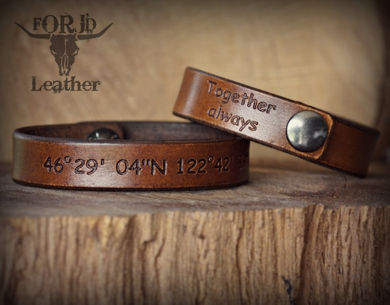 His and Her Leather Bracelet Set, Valentine's Day bracelet, Women's Bracelet, Men's Bracelet, Valentine's Day Gift.