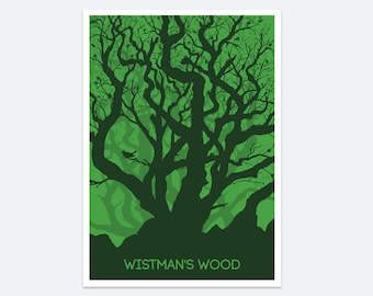 Wistman's Wood Print: a Dartmoor wall art print featuring the ancient forest in the Dartmoor National Park - one of Jons paintings of Devon