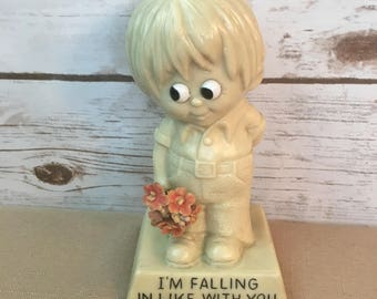 Collectible R & W Berries Cos. 1971 I'm Falling In Like With You Figurine Statute #9033 Made In USA