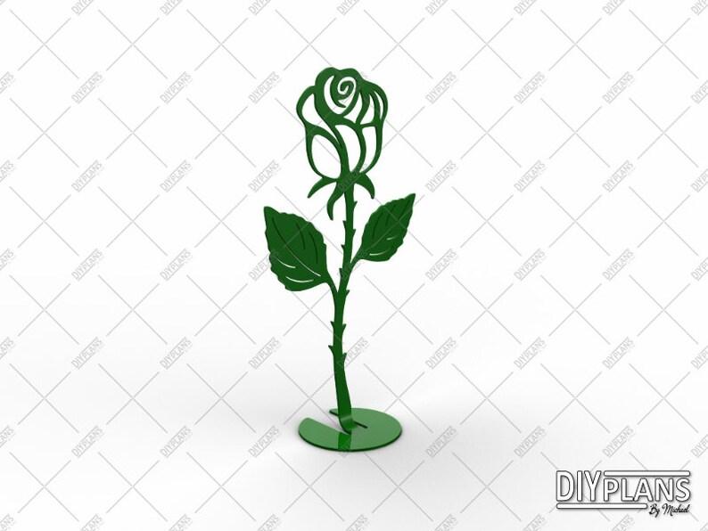 Table Top Rose DXF File - Cut File - CNC File - DIY File - Plasma - Laser -  Waterjet - Metal Art - Metal Decoration