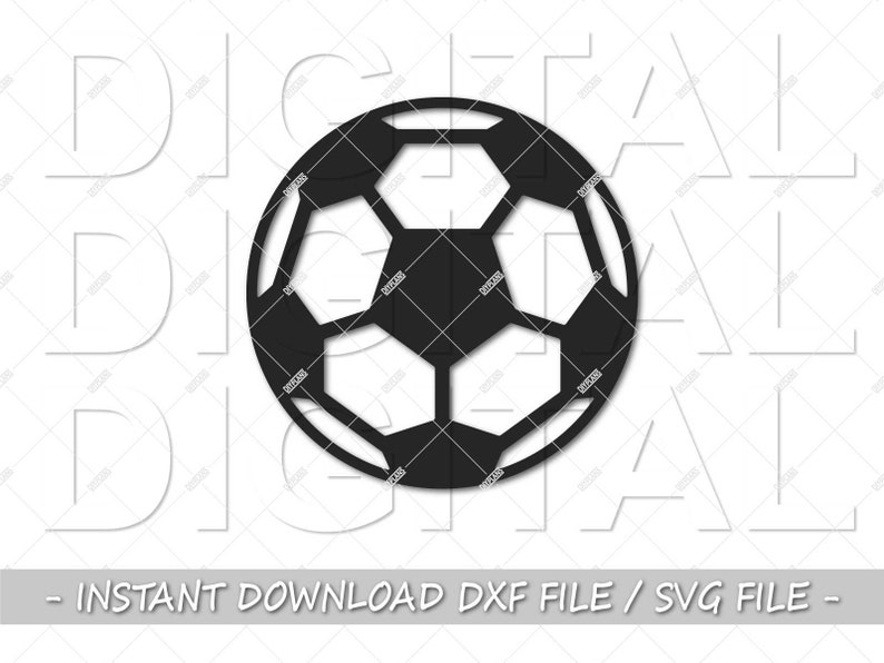 dxf file dxf files for laser dxf svg dxf files for cnc metal wall art DXF football