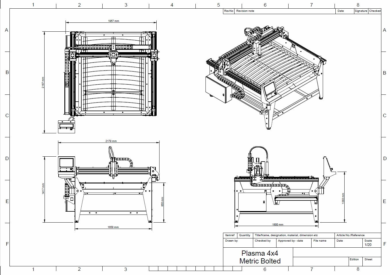 1250mm x 1250mm  4x4 feet  cnc plasma table diy plans from diyplansbymichael on etsy studio