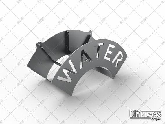 Flower DXF File CNC Plasma Laser Waterjet Garden Stake Cuttable SVG File Cut Ready Vector Clip Art Yard Decoration Metal Art Home Decor