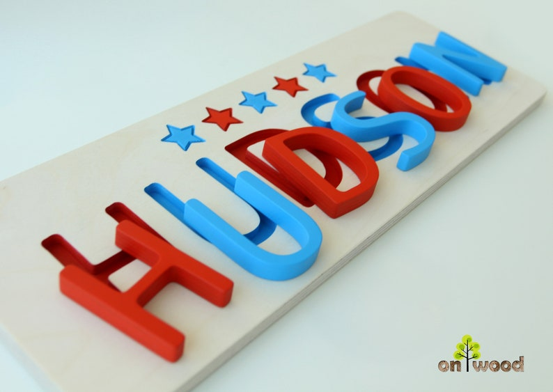 07d0512a3dd49 Name Puzzle - Personalized Baby Boy Gift - 1st Birthday Gift - Baby Shower  Gift - Baptism Christening Gift - Educational Toy - Wooden Toy