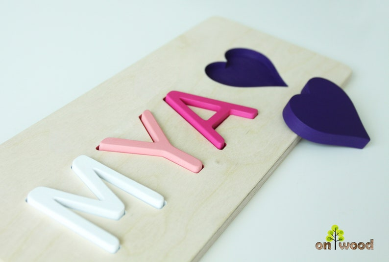 8e0ef7a452f23 Wooden Name Puzzle - Personalized Baby Gifts - Educational Toy - 1st  Birthday Gift - Baptism Gift for Girl - Christmas Gifts - Heart Shape