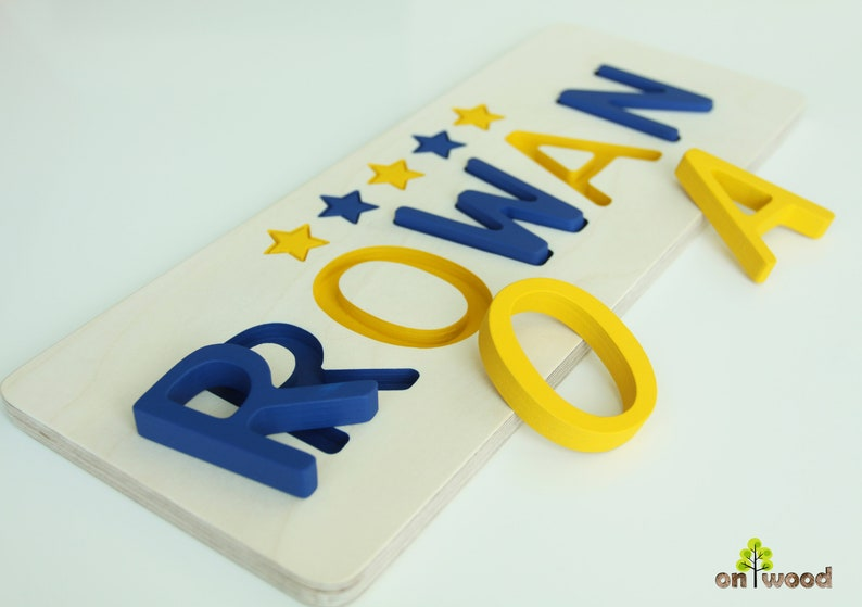 Name Puzzle Personalized Baby Boy Gift 1st Birthday