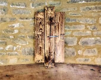 Reclaimed wooden clock