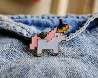Pixel Unicorn Pin/Badge