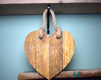 Rustic Decorative Heart with Natural Beeswax
