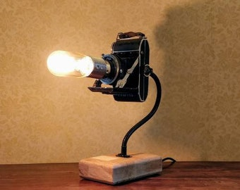 Suspended Vintage Bellows Camera Lamp