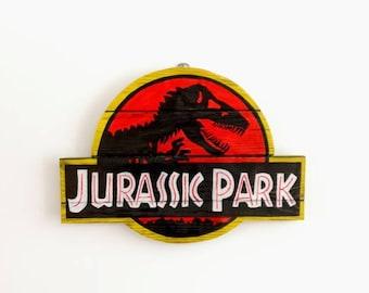 Jurassic Park Wooden Wall Art Hanging - Birthday, Christmas Gift/Present