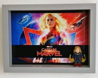 Captain Marvel, Fan Art Mini Figure Frame