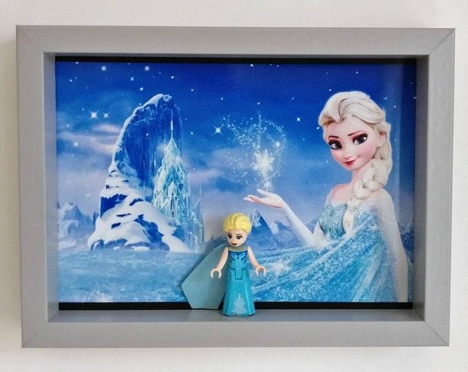 Featured listing image: Frozen, Fan Art Mini Figure Frame