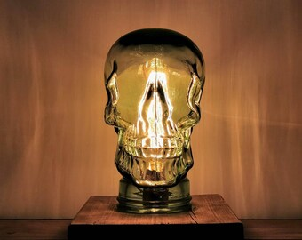 Statement Skull Glass Crystal Head Edison Lamp Light- UK