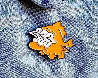Simpsons Nuclear Fish Pin/Badge