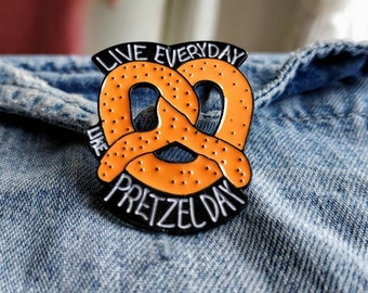 The Office Pretzel Day Pin/Badge