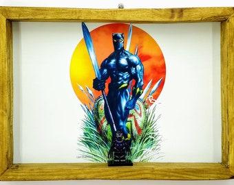 Black Panther Fan Art Figure Frame