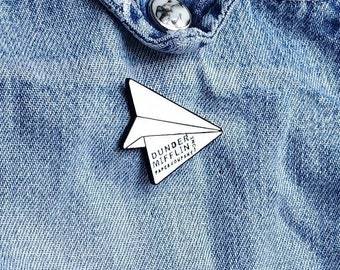 Dunder Mifflin Paper Airplane Pin/Badge