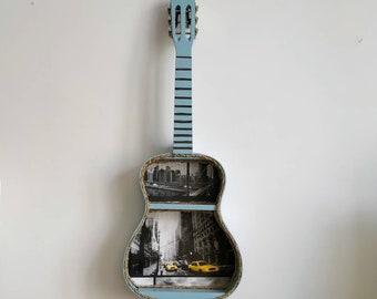 Acoustic Guitar New York themed shelf