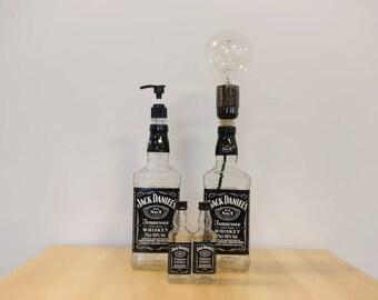 Jack Daniels Whisky Gift Set - Soap Dispenser, Lamp and Salt & Pepper Shakers